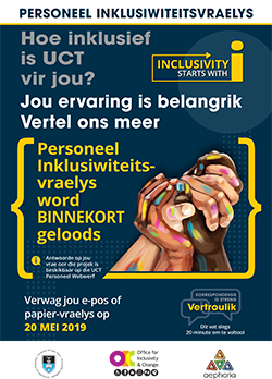 Inclusivity survey - Afrikaans poster