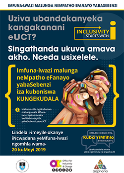 Inclusivity survey - isiXhosa poster
