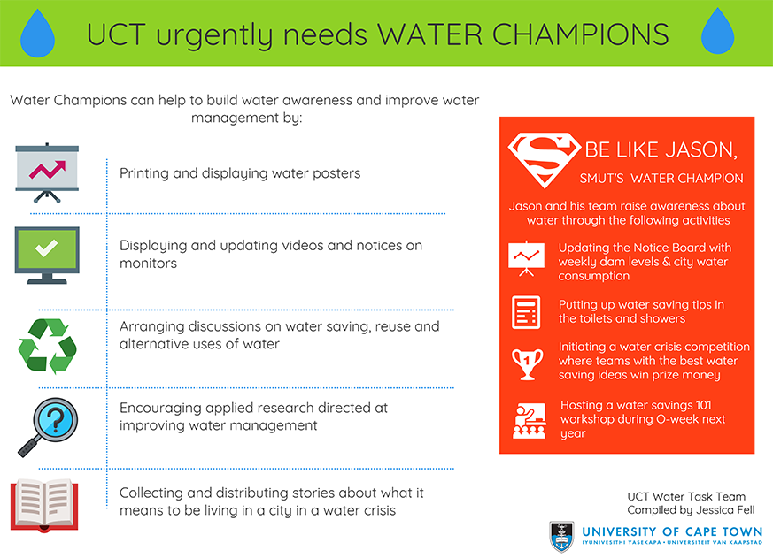 UCT water champions